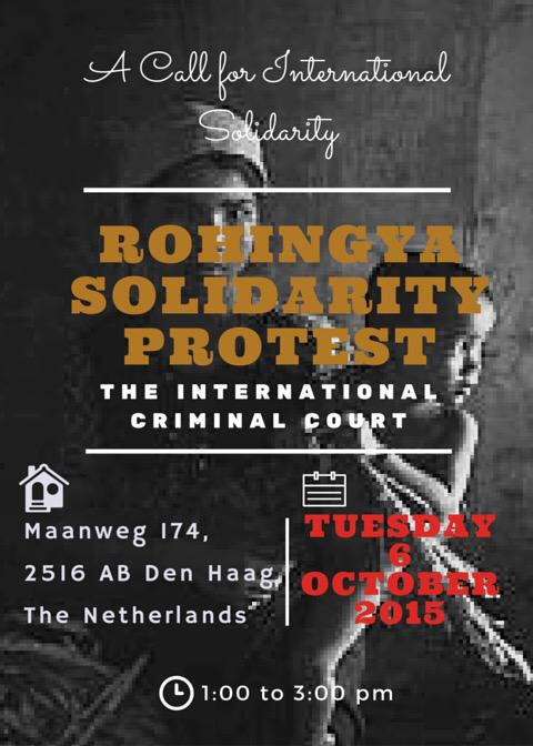 Media Advisory: Europe's Rohingya Refugees Protest Rally at the ICC